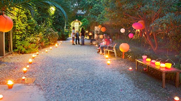 Espelmes per casaments als jardins