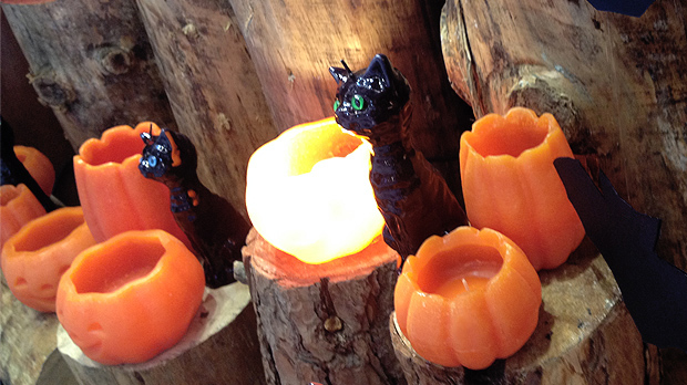 Black Cat Halloween Candles