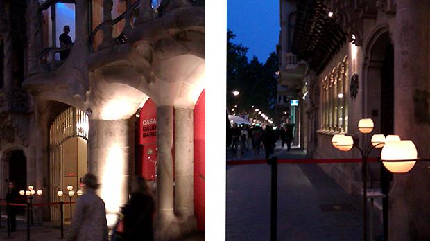 Espelmes Cerabella davant la Casa Batllo de Barcelona