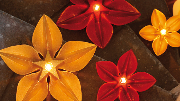 Christmas-Flower-candles