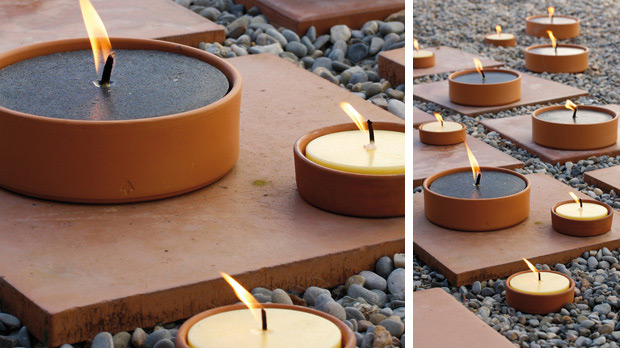 Citronella outdoors candles