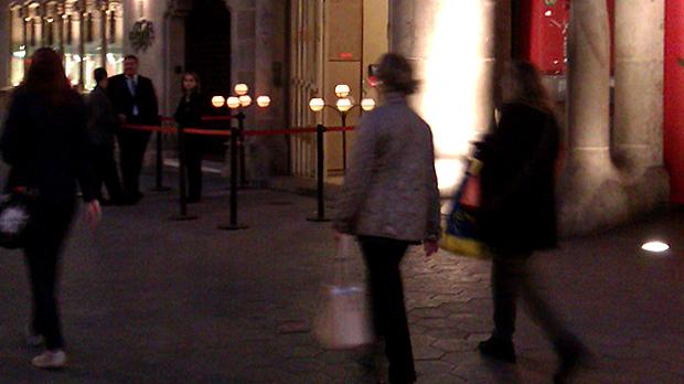Velas de Cerabella en el Paseo de Gracia de Barcelona