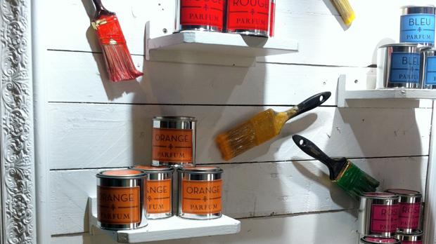 Espelmes en llauna de pintura