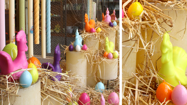 Easter Egg coloured candle