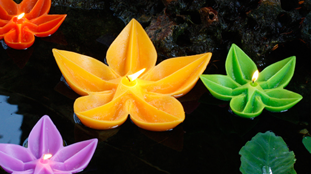 Espelma flor