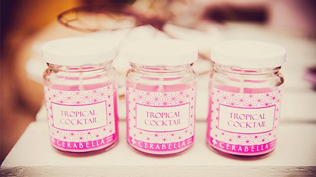 Espelma aromàtica de pinya i maracujà