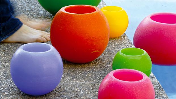 Velas flotantes para fiestas