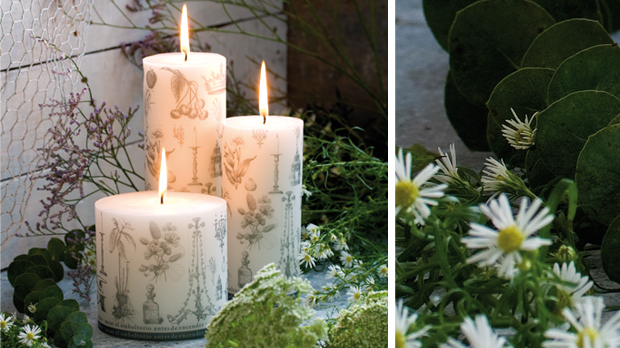 Scented candles for Springtime