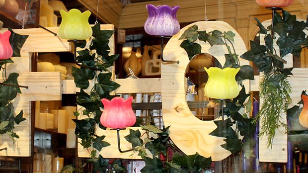 multicolour handmade candles