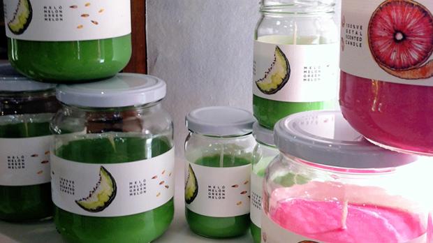 Espelmes vegetals de fruites