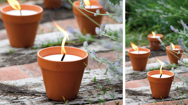 Citronella scneted garden candle