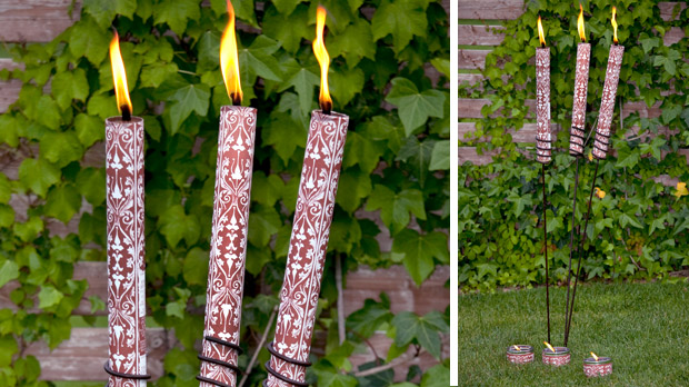 Citronella torch for outdoors parties