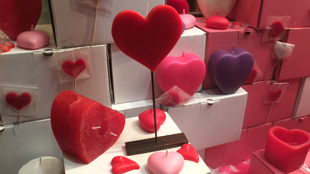 All kind of heart shaped candles