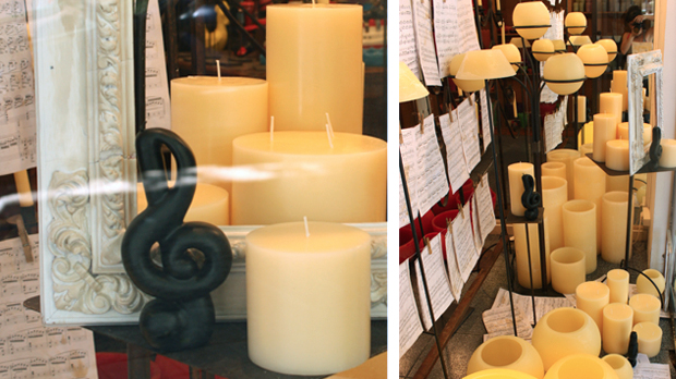 music candle note