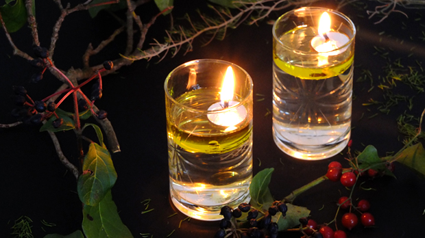 Oil lamps for parties