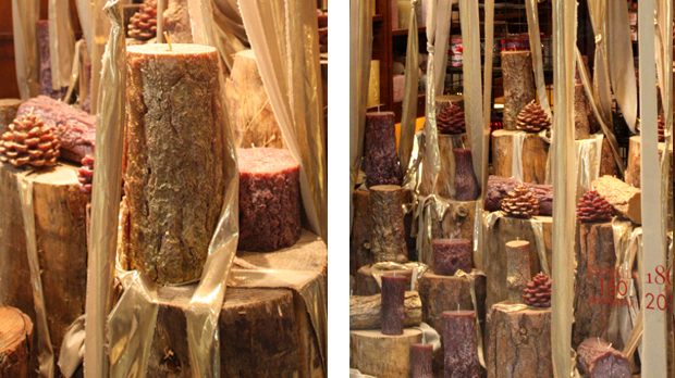 vegetal texture candles